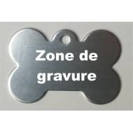 Médaille aluminium ' os ' gris clair