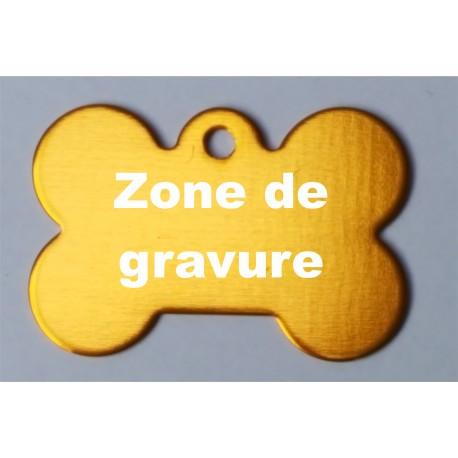 Médaille aluminium ' os ' jaune