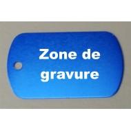 Médaille aluminium ' militaire ' bleu foncé