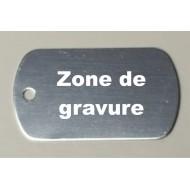 Médaille aluminium ' militaire ' gris clair