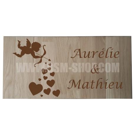 Panneau bois ' Love - Cupidon '