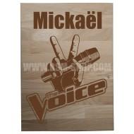 Panneau bois ' The - Voice '