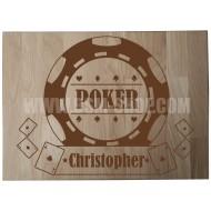 Panneau bois ' Poker '