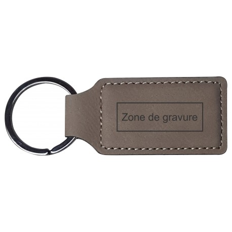 Porte-clé Cuir Rectangle