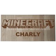 Panneau bois ' Minecraft ' 20*40cm