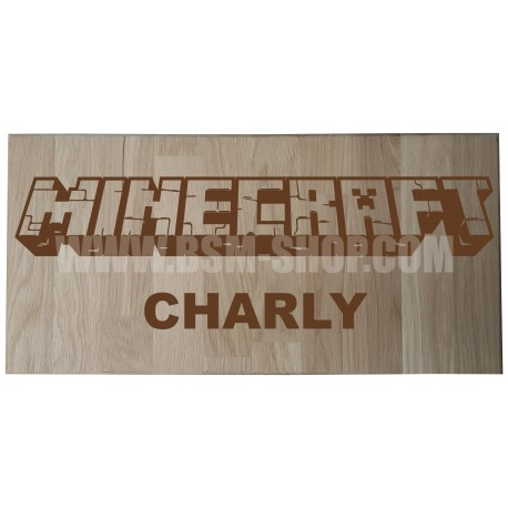 Panneau bois ' Minecraft '
