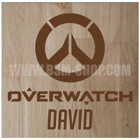 Panneau bois ' Overwatch '