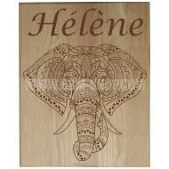 Panneau bois ' Eléphant '