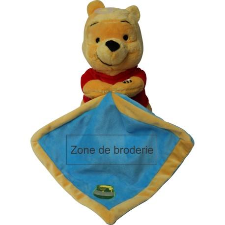 Doudou Disney Winnie bleu