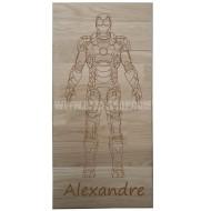 Panneau bois ' Iron-Man '