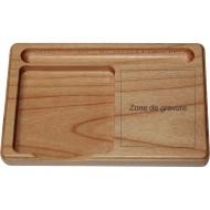 Support bois clair pour bloc-notes et stylo
