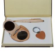 Coffret Stylo , porte-clés et miroir de poche